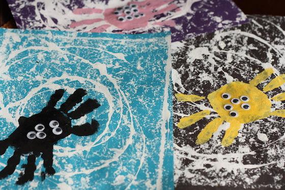 preschool spider handprint craft