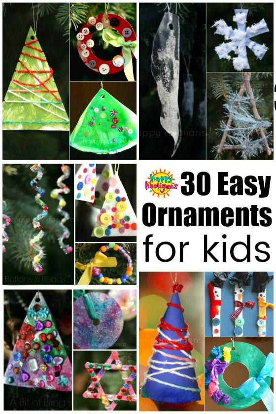 30 Easy Kids\u0027 Christmas Ornaments to Make at Home