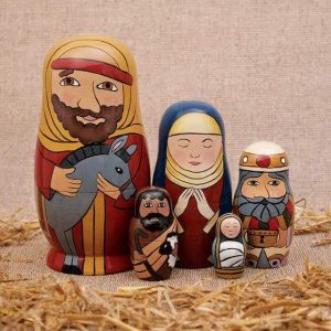 5 pc Nativity Nesting Set