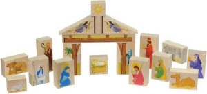 Wooden Nativity Blocks for Kids