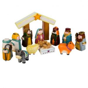HAND CARVED Nativity Set for Kids