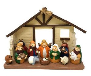 Large Kids' Nativity Set with Creche