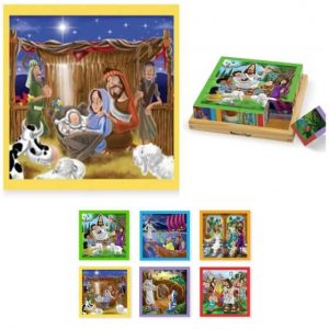 Melissa and Doug 6-Sided Cube Nativity Puzzle