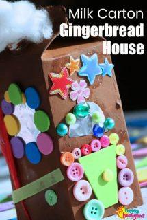 Milk Carton Gingerbread House for Preschoolers