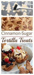 Cinnamon-Sugar Tortilla Treats by Happy Hooligans