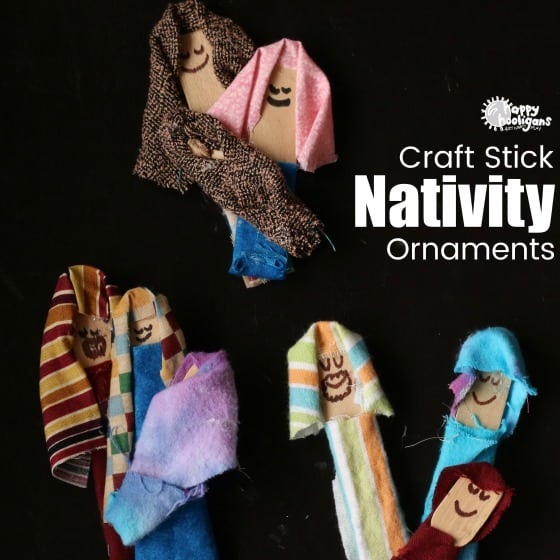 Popsicle Stick Nativity Ornaments