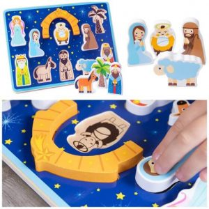 Wooden Nativity Shape Puzzle for Toddlers