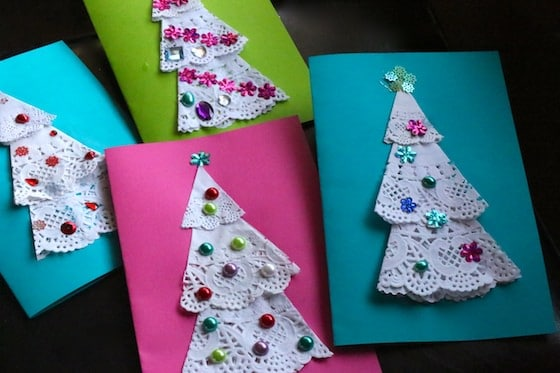 Easy Christmas Cards To Make With Children.Homemade Christmas Cards For Kids To Make Happy Hooligans