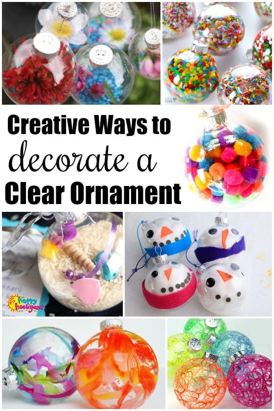 Clear Ornament Crafts for Glass or Plastic Ornaments