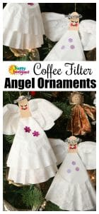 Coffee Filter Angel Ornament Craft for Kids