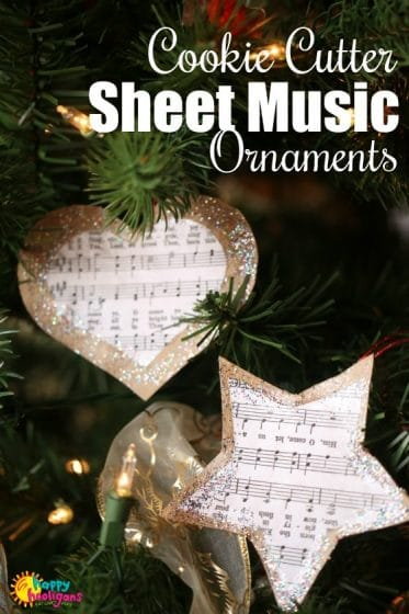 Cookie Cutter Sheet Music Ornaments for Kids to Make