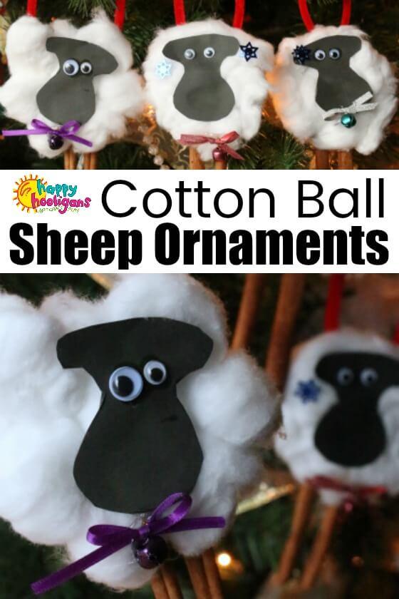 Cotton Ball Cinnamon Stick Sheep Craft