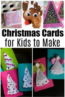 Cute Homemade Christmas Cards for Kids to Make