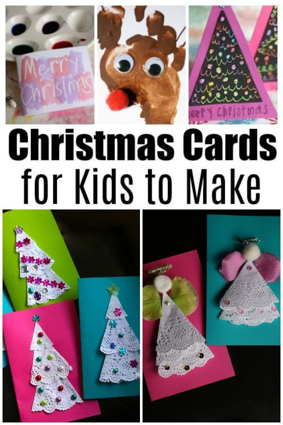 Homemade Christmas Cards For Kids To Make Happy Hooligans