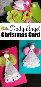 Doily Angel Christmas Card for Kids to Make and Give