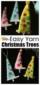 Easy Yarn Christmas Trees
