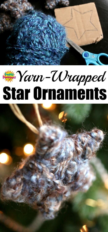 Homemade Yarn Star Ornaments for Kids copy