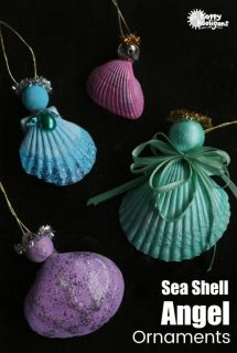 Painted Seashell Angel Ornaments for Kids