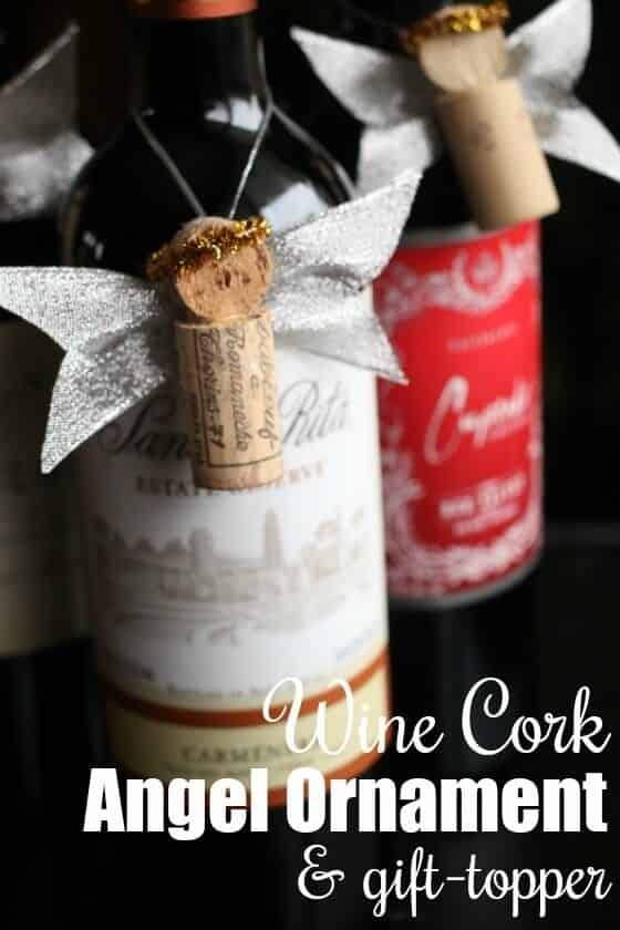 Wine Cork Angel Ornament Gift Topper
