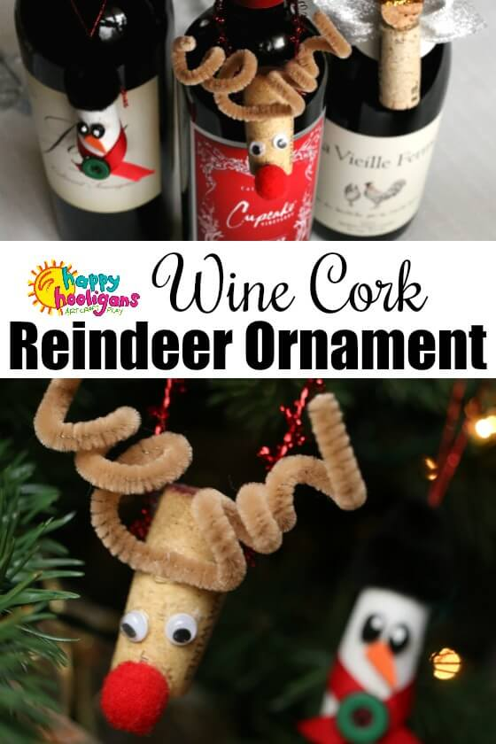 Wine Cork Reindeer Ornament Craft