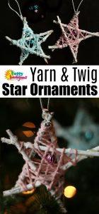 Yarn-Wrapped Twig Star Ornaments