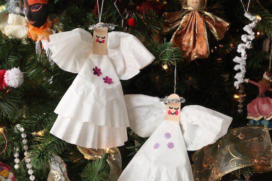coffee filter angels horizontal