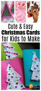 Cute and Easy Christmas Cards for Kids to Make