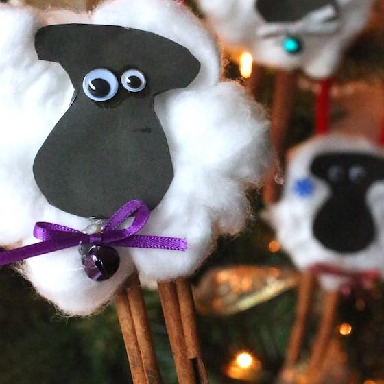 homemade sheep ornament for Christmas tree
