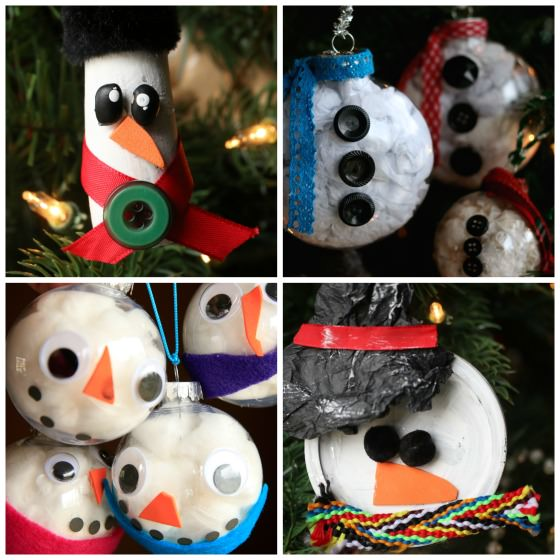 snowman ornaments collage happy hooligans