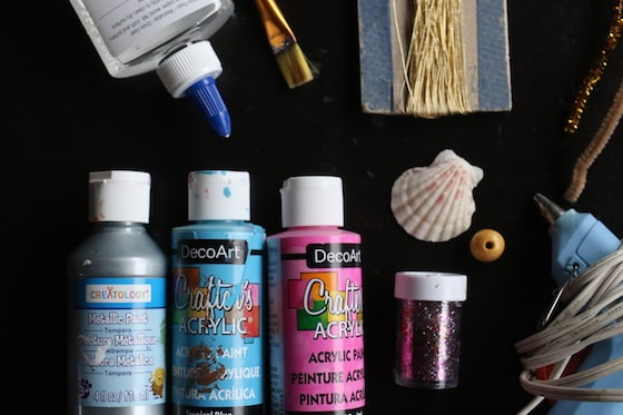supplies to make seashell angels