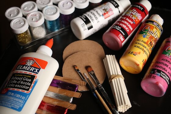 supplies for making lollypop Christmas ornaments