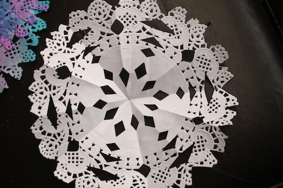 Colourful Paper Doily Snowflakes For Kids To Make Happy Hooligans