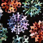 3D paper snowflake square image