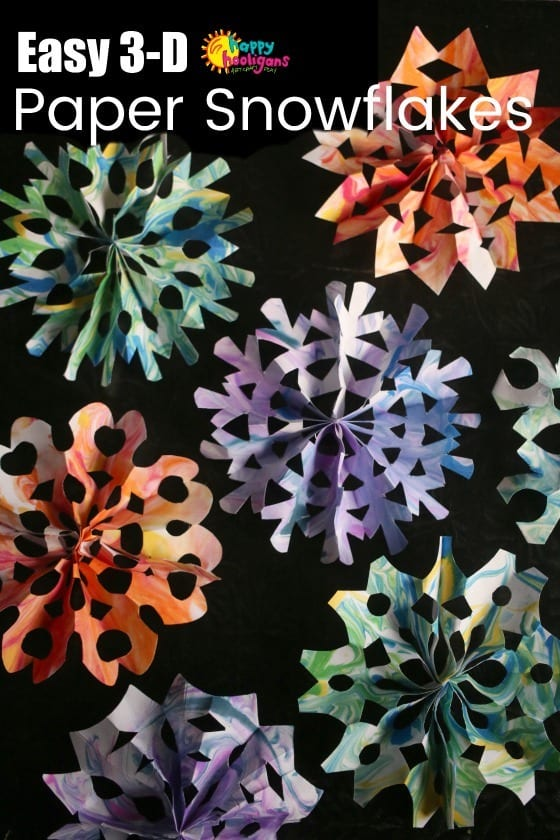 3D Snowflakes For Kids to Make (Easy Accordion Fold Method)