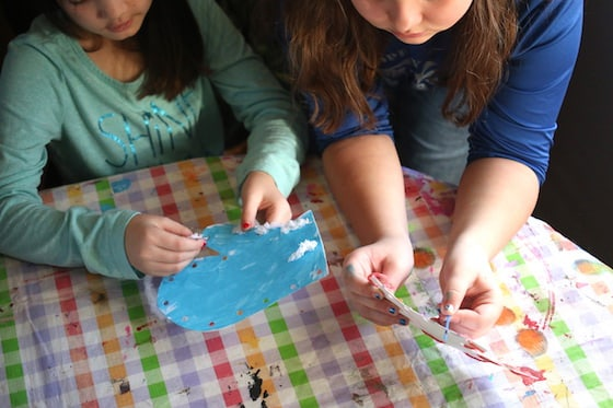 School Age Kids learning to sew basic stitches