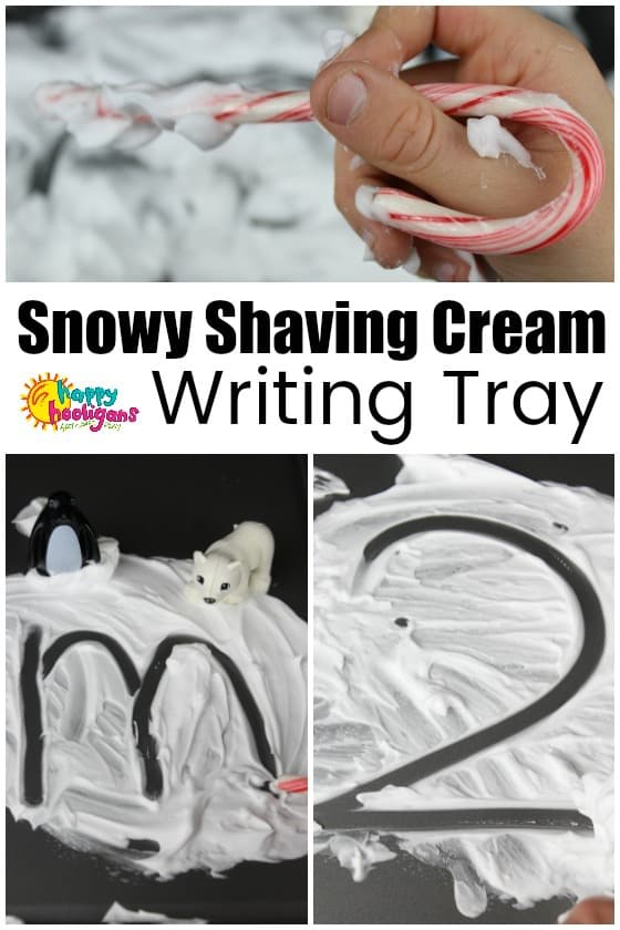 Snowy Shaving Cream Writing Tray
