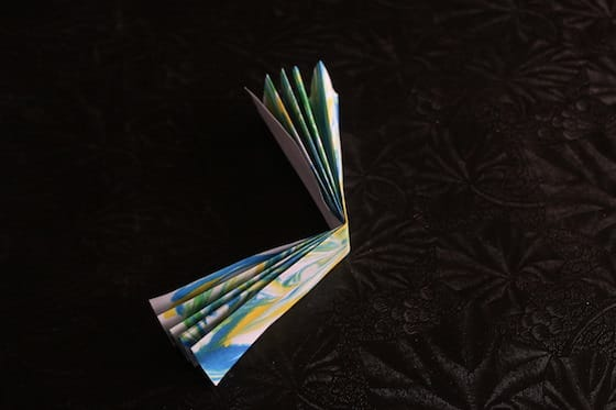 paper folded into accordion