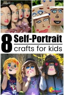 8 Self Portrait Crafts for Kids