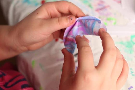 Biscuit de fortune en papier pliant pour enfant