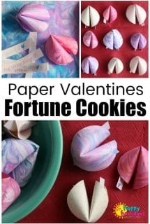 How to Make Paper Fortune Cookie Valentines