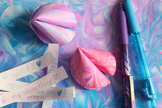 Paper Valentines Fortune Cookies