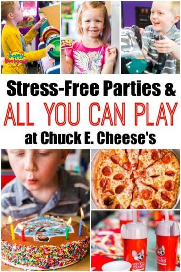 Stress Free, All You Can Play Chuck E. Cheese's Birthday Party