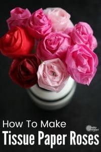 Tissue Paper Roses Vase