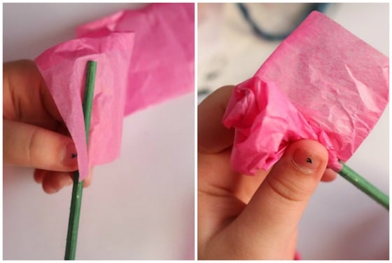 How To Make A Tissue Paper Rose Happy Hooligans