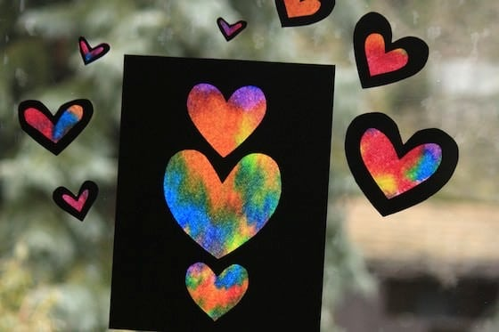 Tie Dye Valentines Cards for Kids to Make