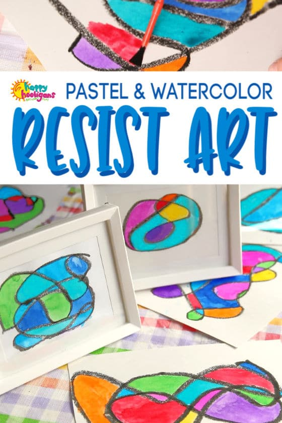 Pastel & Watercolor Resist Art for Kids (Stained Glass Doodles)