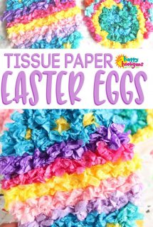 Crumpled Tissue Paper Easter Egg Craft for Kids