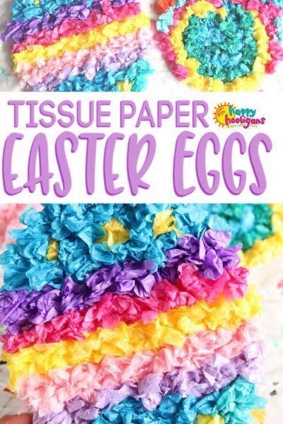 Tissue Paper Easter Egg Craft for Kids