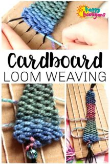 Cardboard Loom Weaving Activity