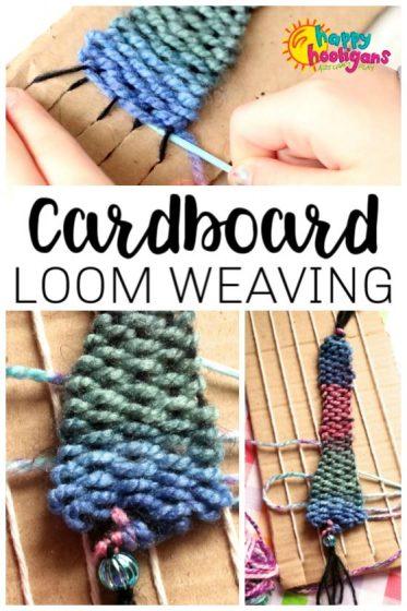 Cardboard Loom Weaving Activity